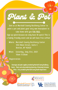 Plant & Pot @ Marshall County Resiliency Center